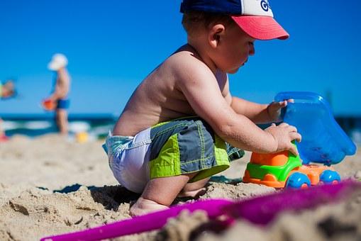 Bambini in spiaggia