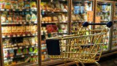 carrello della spesa al supermercato