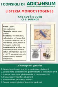 Listeria, il vademecum di Adiconsum