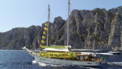 L'imbarcazione Goletta Verde in navigazione