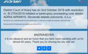 adria airways sito web