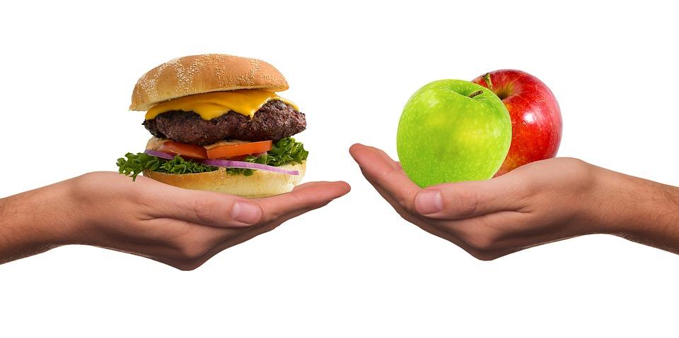 junk food vs frutta