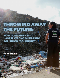 greenpeace report plastica