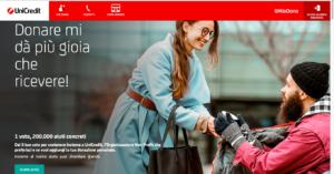 Unicredit, l'iniziativa per sostenere le Onlus