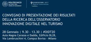 Presentazione della ricerca dell'Osservatorio Innovazione Digitale nel turismo