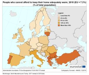 grafico riscaldamento casa