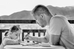 bambina col papà