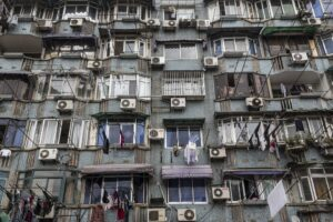edificio con aria condizionata