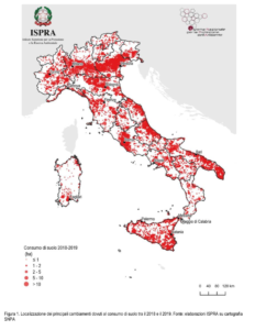 grafico consumo di suolo