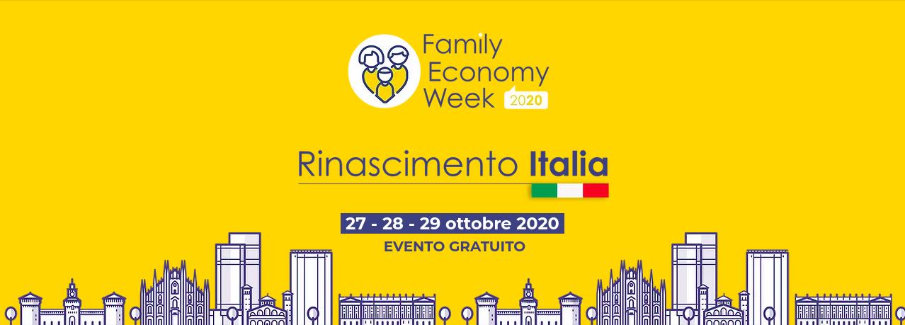 Family Economy Week, dal 27 al 29 ottobre