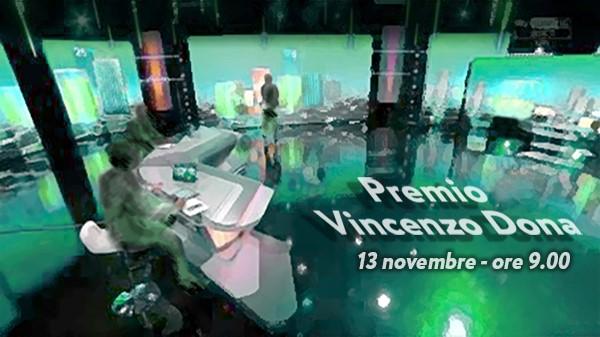 Premio Vincenzo Dona 2020, il 13 novembre in diretta streaming