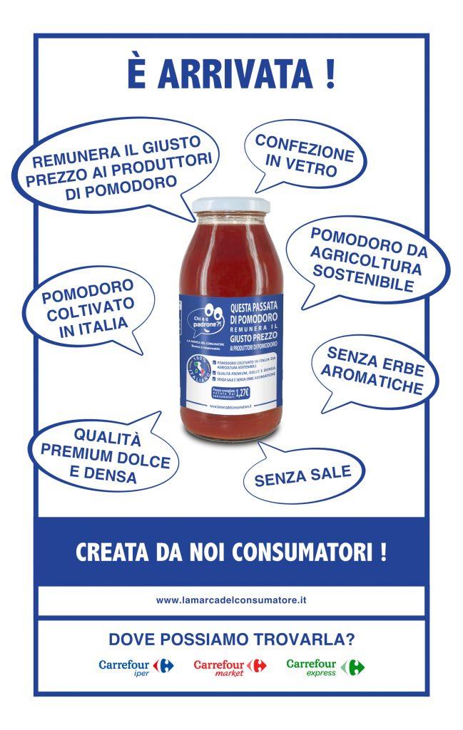 """La Marca del consumatore, in arrivo la """"Passata di pomodoro dei consumatori"""""""