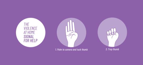 Signal for Help, il gesto per chiedere aiuto contro la violenza domestica