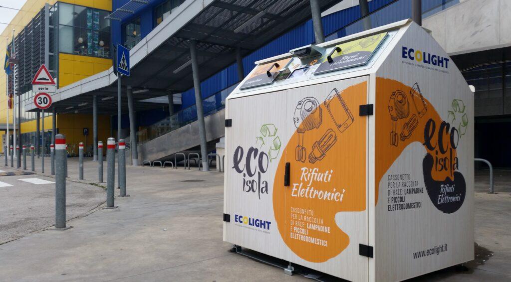 Rifiuti elettronici, le EcoIsole hanno raccolto 15 tonnellate di RAEE nel 2020 (Fonte: Ecolight)
