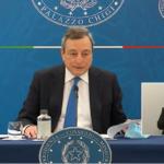 Draghi in conferenza stampa: dal 26 aprile torna la zona gialla