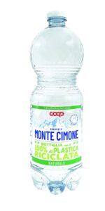 Bottiglia plastica riciclata Coop